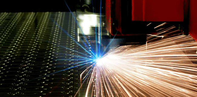 sparks from materials manufacturing
