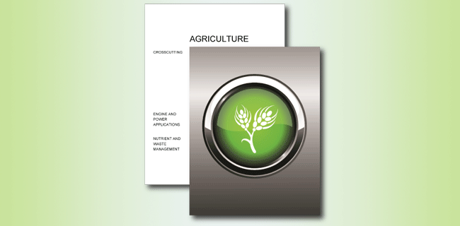 agriculture handbook section with technology categories