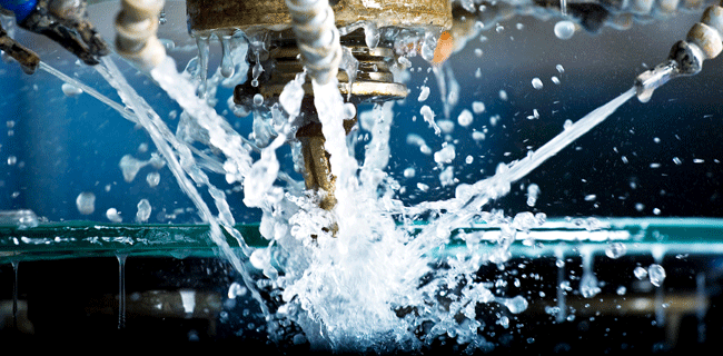 water spraying during industrial process