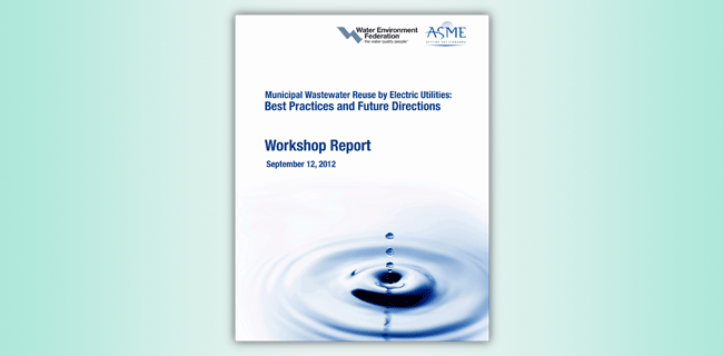 Municipal Wastewater Reuse by Electric Utilities: Best Practices and Future Directions report cover