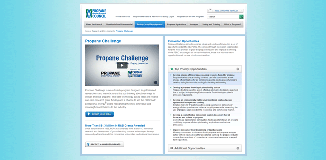 Propane challenge website