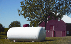 propane tank on a farm
