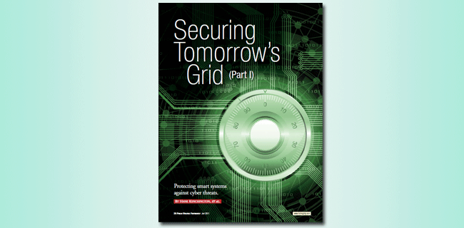 Securing Tomorrow's Grid article cover