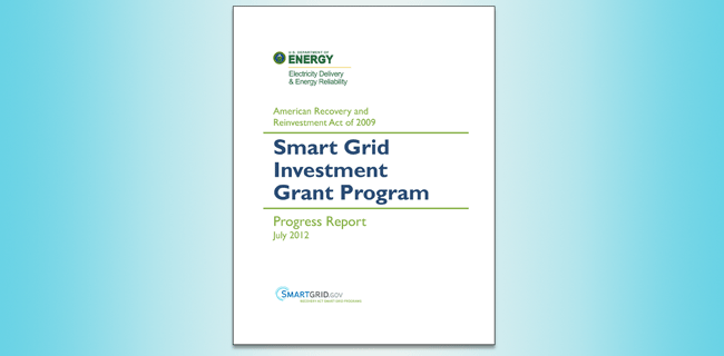Smart Grid Investment Grant Program report cover