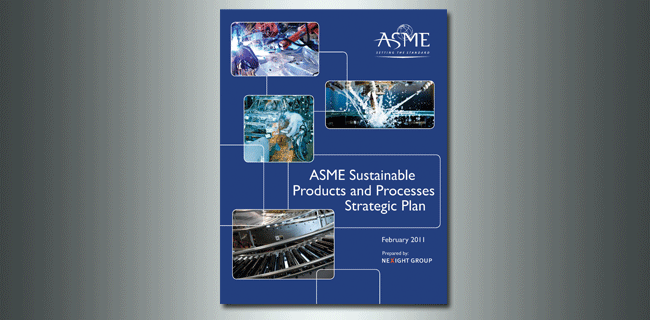 ASME Sustainable Products and Processes Strategic Plan report cover