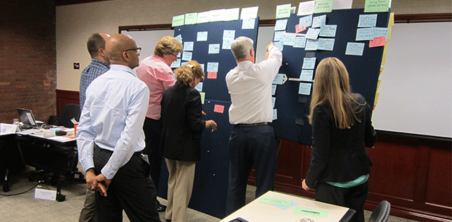 Facilitating the roadmapping workshop