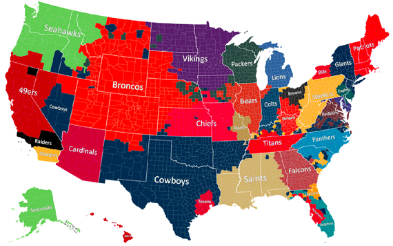 nfl map