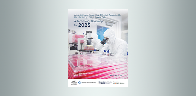 National Cell Manufacturing Consortium Roadmap cover