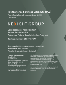 Nexight Group Professional Services Schedule Catalog