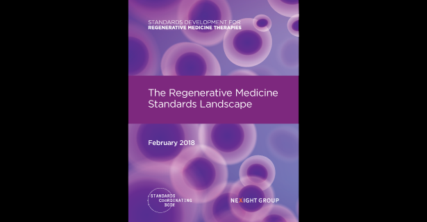 The front cover of The Regenerative Medicine Standards Landscape report.