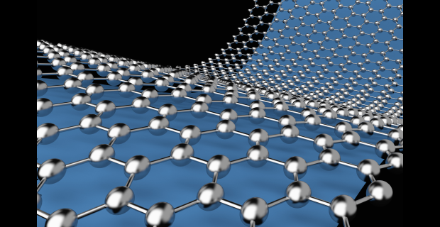 An image showing a model of the structure of graphene.