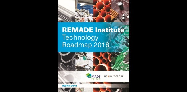 The front cover of the REMADE Institute Technology Roadmap.